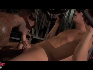Blond smooth twink takes BBC for the first time.
