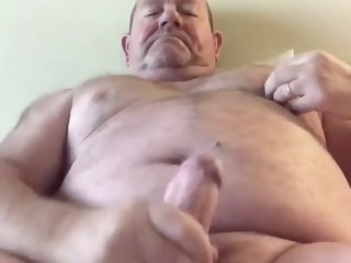 Fat cock Married chubby daddy Cum
