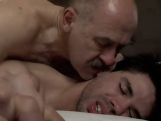 Mature latin daddy bear and twink