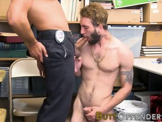Caught thief gets fucked in the ass