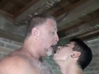 Dad and Son passionate bareback fucking