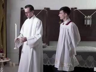 Felix Odair & Father Fiore - Altar Twink Training