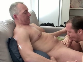 Hot stepdad came over and came in my ass