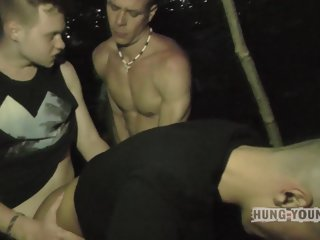 Hung Young Brit Sasha and Friends Outdoors Part2