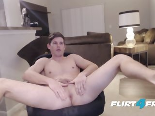 Adonis Summoning On Flirt4free - Straight Ripped Hunk Fingers His Ass